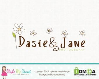 Daisy Flower Logo Photography Logo Premade Logo Photographers Logo Graphic Design Florist Logo Floral Logo Watermark Logo Branding Logo
