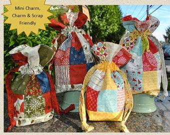 Sweet Jane Mini Charm Drawstring Bag Pattern  SJ 053