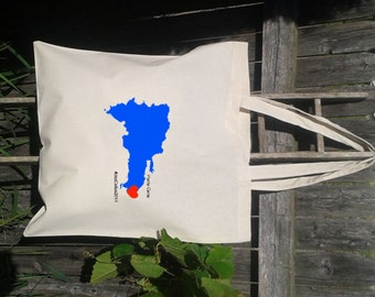 SALE-----------30 Wedding Welcome Tote -Bridesmaid Gift Bags - Welcome Bags -Your State with Hearts and Initials