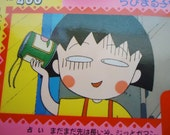 Sixteen Chibi Maruko chan Cute Cards. Perfect for your Handmade proyects.1991