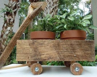 Garden Wagon Planter - Reclaimed Wood