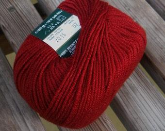 DK Weight Yarn - Rustic Red (2015) - King Australian Merino (Italy) - 50g / 152 yards