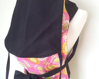 MEI TAI Baby Carrier / Sling / Reversible / My Flower with Hood in straight cut model