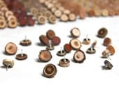 20 wood thumb tacks - natural wood pushpins for your home or office