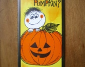 vintage halloween greeting card unused with envelope