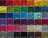 100  2cm Wool Felt Balls - Your Choice of Colors