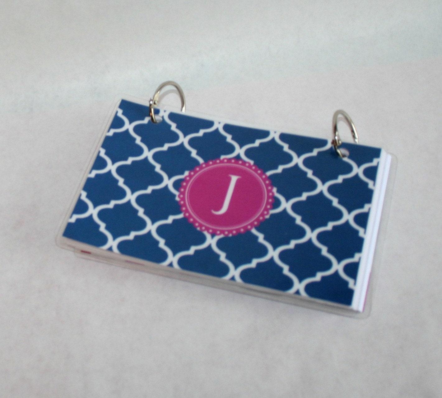 Index Card Binder 3 X 5 Index Card Holder Personalized