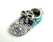 Blue Crystal Shoe Charm