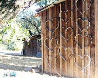 Wine Barrel Ring Hearts for a Country Wedding