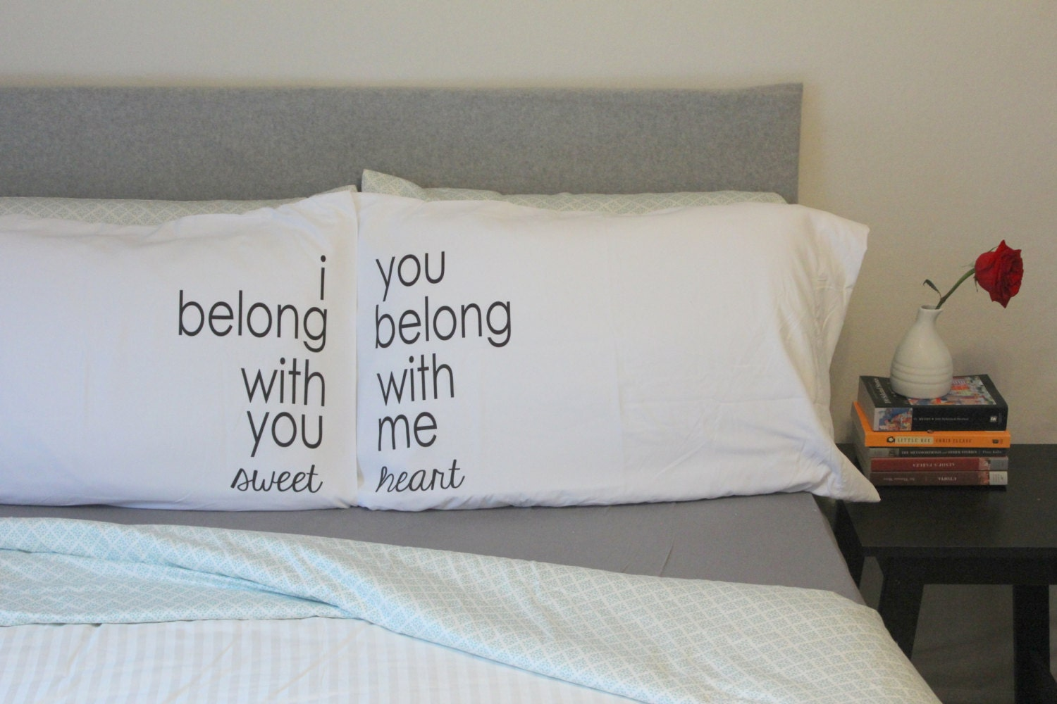 Pillowcase Designs Couples: COUPLES PILLOW CASES LUMINEERS HO HEY PILLOWCASE I BELONG WITH YOU    ,