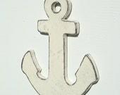 antique white wood anchor