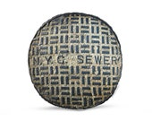 NYC Sewer Cover Printed Pillow