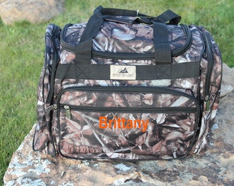 Black Camo Duffle Bag Tote FREE Shipping! Browning Deer Personalize or monogram Included