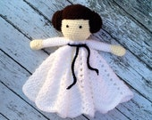 Princess Leia Star Wars Inspired Lovey/ Security Blanket/ Soft Toy Doll/ Plush Doll/ Stuffed Toy/ Amigurumi Doll/ Baby Doll-  MADE TO ORDER