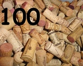 Wine Corks, 100 Natural Wine Corks, Used Wine Stained Craft Corks