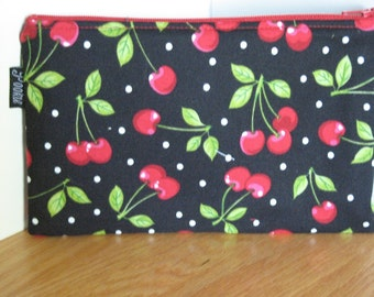 Zippered Pouch - Cherries