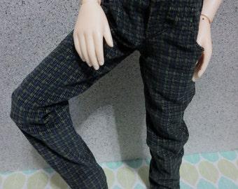 Dark Blue Green Plaid Pants 45cm SD BJD SD13