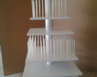 7 Tier Custom Made Square Cupcake and Cake Pop Combination Stand. Holds 156 Cake Pops and 149 cupcakes.