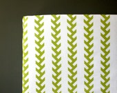 Farm theme crib sheet- Toddler bed fitted sheet- TRACTOR TRACKS - lime green