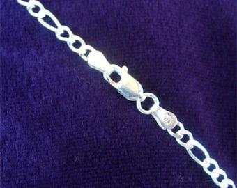 "18"" FIGARO 080 Heavy Neck CHAIN in STERLING Silver"