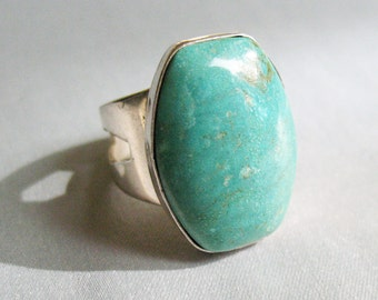 Vintage Jay King Turquoise Stone and Sterling Silver Ring