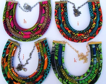 African style bib necklace/ African fashion/ colorful tribal necklace/ ethnic necklace/ choose one/ African wedding necklace/ Afro fashion