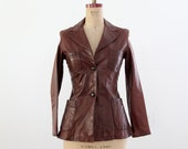 1970s Crae Carlyle leather jacket