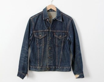 FREE SHIP  Big E Levi's jacket, 1960s Levis trucker jacket, denim jacket
