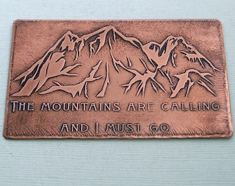 Popular items for metal wallet card on etsy for The mountains are calling and i must go metal sign