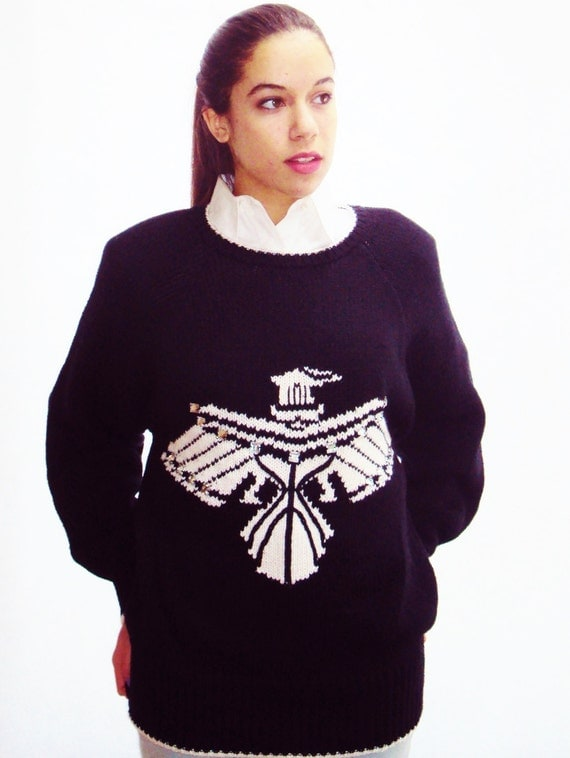 vintage 90s chubby Knit Sweater / thick knit jumper / Phoenix Logo /