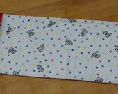 Puppy print flannel pillowcase