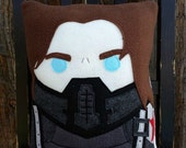 Captain America, Winter Soldier, Bucky Barnes pillow, plush, cushion, gift