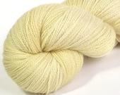 Glitter lace yarn French Vanilla merino/silk/stellina 75/20/5 hand-dyed lace weight yarn