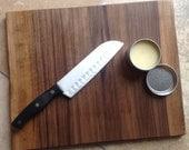 Cutting Board (black walnut) & Wood Butter