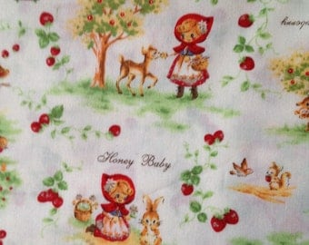 Red riding hood printed  fabric100cm 95cm or 39inches x 34