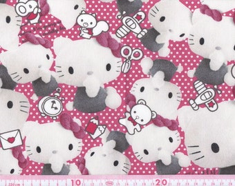 Hello kitty cotton fabric picture kitty half yard  pink color