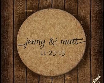 Custom Engraved Wedding Coasters - Wedding Favors