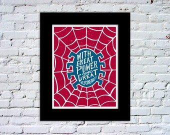 Spiderman Superhero Color Print