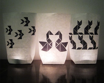 3 tangram luminaries