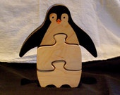 Penguin Puzzle, Animal Puzzle, Child's Puzzle, Room Decoration. Baby Gift, Birthday Gift, Puzzle, Kids Toy, Non Toxic Puzzle, Zoo Puzzle Toy