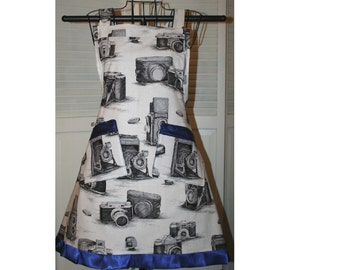 Vintage Camera  Full Bib Apron