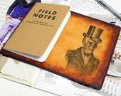Field Notes Leather Cover - Steampunk Skull - Customizable - Free Personalization