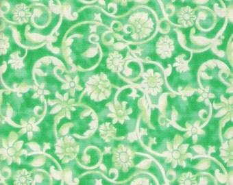 Green Fabric Light Green Fabric Green on Green Fabric Green Swirl Blender Fabric 5 Yards Cotton Quilting Fabric Sewing Supplies YacketUSA