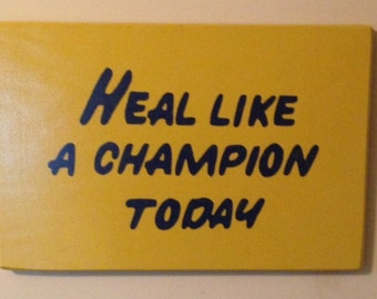 """CUSTOM Play Like a Champion Today Sign     12""""x18"""" - Standard finish  *Officially Licensed Product*"""