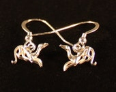 Greyhound Art Deco  Sterling Silver Ear Rings