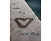 Valentine photography, heart, winter love story, our story, fine art print