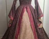 Renaissance dress with French Hood/Headpiece