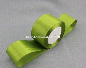 Green Ribbon Terylen Lace Trim 1.96 Inches Wide 22 meters