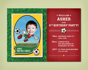 digital soccer birthday invite