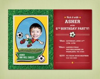 digital soccer birthday invite